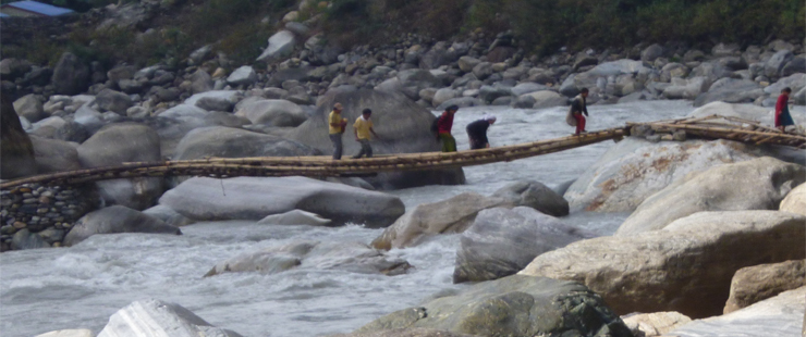 Kali Gandaki near by Hot Spring